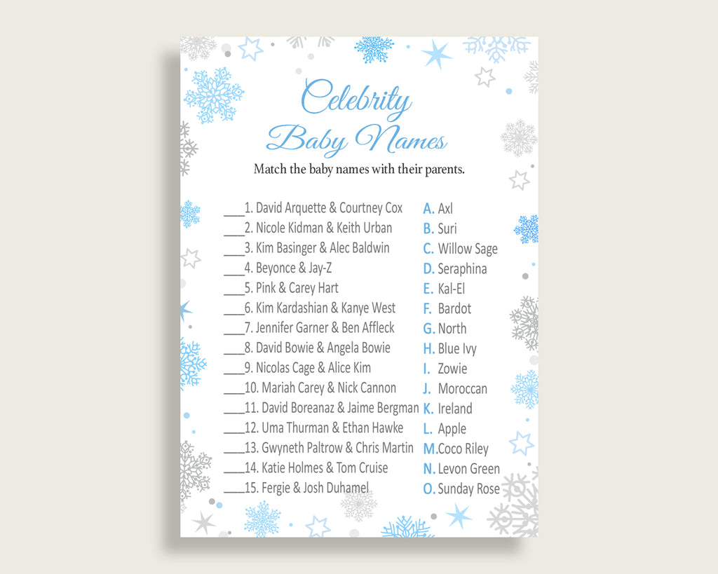 Celebrity Baby Names Baby Shower Celebrity Baby Names Snowflake Baby Shower Celebrity Baby Names Blue Gray Baby Shower Snowflake NL77H