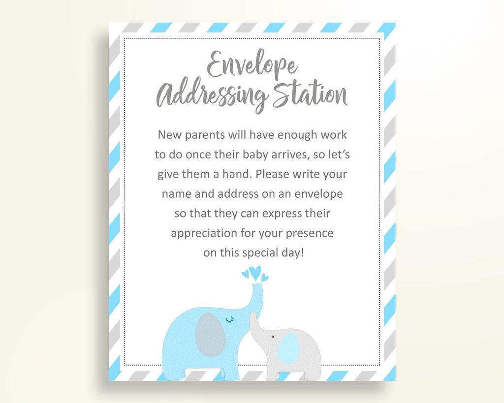 Envelope Addressing Baby Shower Envelope Addressing Elephant Baby Shower Envelope Addressing Blue Gray Baby Shower Elephant Envelope C0U64 - Digital Product