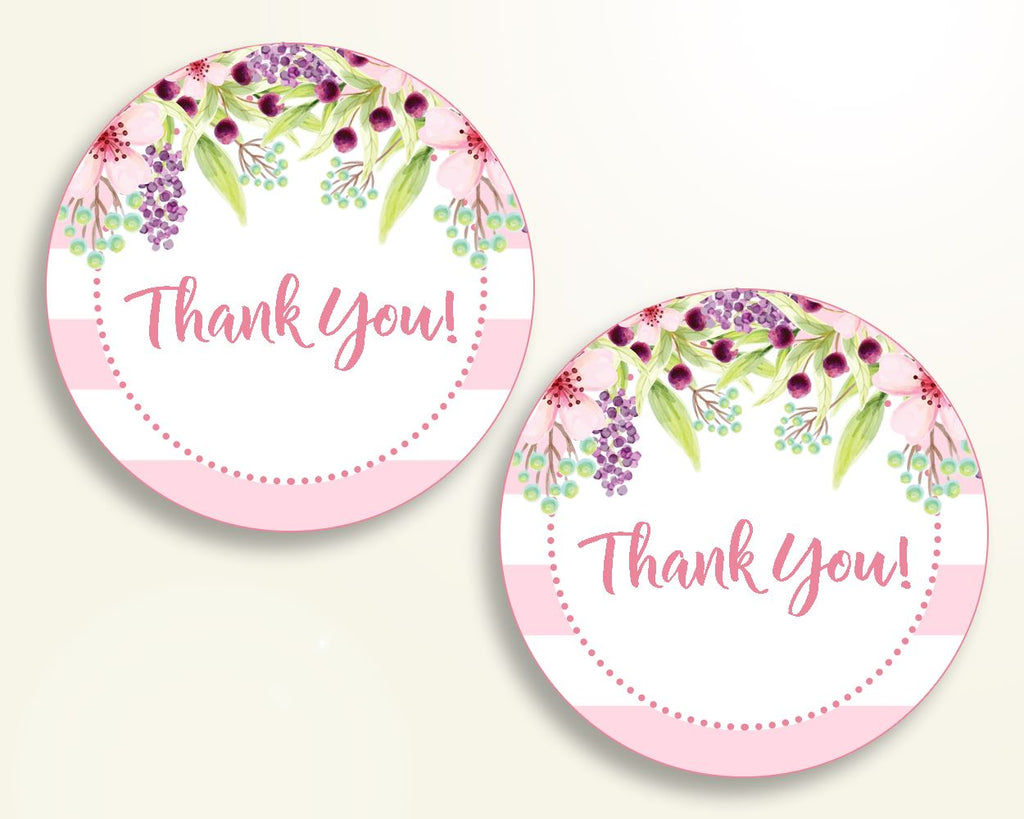 Favor Tags Baby Shower Favor Tags Pink Baby Shower Favor Tags Baby Shower Flowers Favor Tags Pink Green shower celebration prints 5RQAG - Digital Product