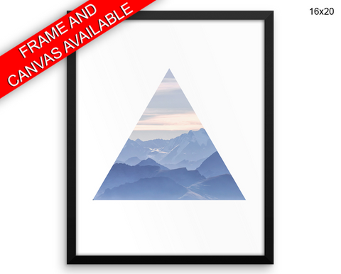 Triangle Mountain Print, Beautiful Wall Art with Frame and Canvas options available Living Room