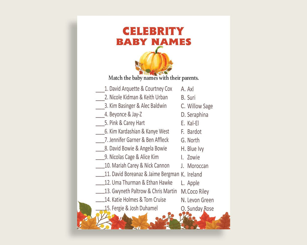 Celebrity Baby Names Baby Shower Celebrity Baby Names Fall Baby Shower Celebrity Baby Names Baby Shower Pumpkin Celebrity Baby Names BPK3D - Digital Product