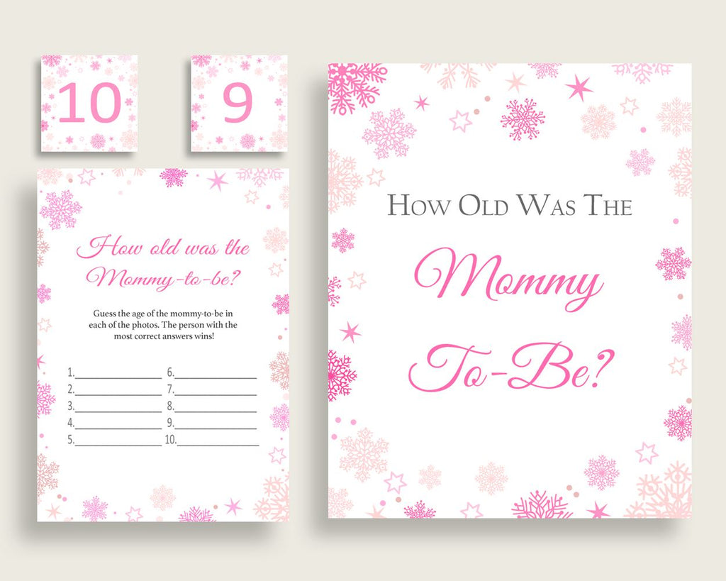 How Old Was Mommy Baby Shower How Old Was Mommy Winter Baby Shower How Old Was Mommy Baby Shower Girl How Old Was Mommy Pink White 74RVX - Digital Product