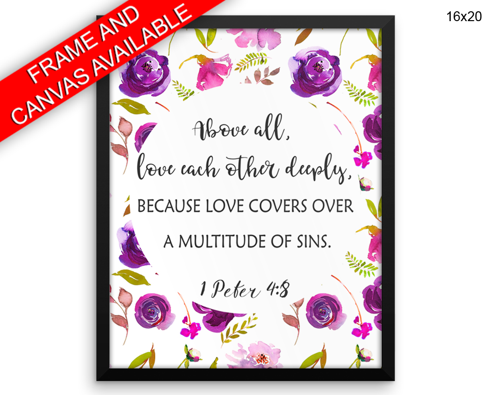 Peter Print, Beautiful Wall Art with Frame and Canvas options available Bible Decor
