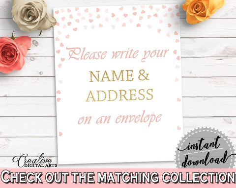 Addressing Sign Bridal Shower Addressing Sign Pink And Gold Bridal Shower Addressing Sign Bridal Shower Pink And Gold Addressing Sign XZCNH - Digital Product