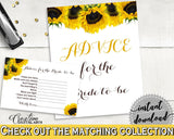 Advice Cards Bridal Shower Advice Cards Sunflower Bridal Shower Advice Cards Bridal Shower Sunflower Advice Cards Yellow White digital SSNP1 - Digital Product