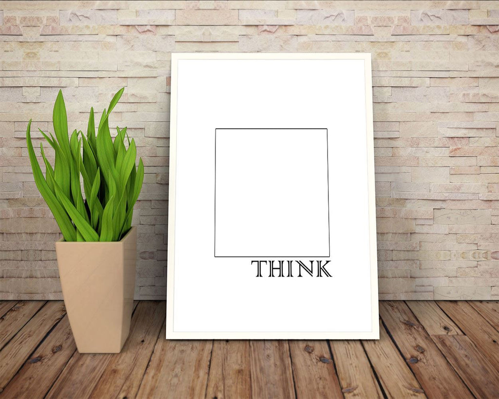 Wall Decor Think Outside The Box Printable Think Outside The Box Prints Think Outside The Box Sign Think Outside The Box Inspirational Art - Digital Download