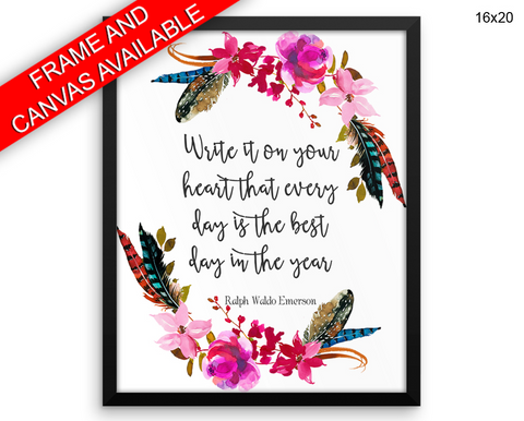 Ralph Waldo Emerson Print, Beautiful Wall Art with Frame and Canvas options available Inspirational