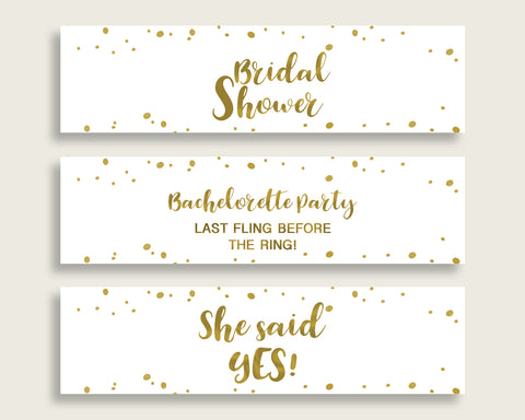 Bottle Labels Bridal Shower Bottle Labels Gold Bridal Shower Bottle Labels Bridal Shower Gold Bottle Labels Gold White party decor G2ZNX