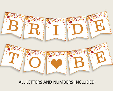 Banner Bridal Shower Banner Fall Bridal Shower Banner Bridal Shower Autumn Banner Brown Yellow instant download customizable files YCZ2S