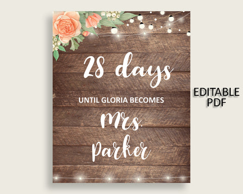 Days Until Becomes Bridal Shower Days Until Becomes Rustic Bridal Shower Days Until Becomes Bridal Shower Flowers Days Until Becomes SC4GE