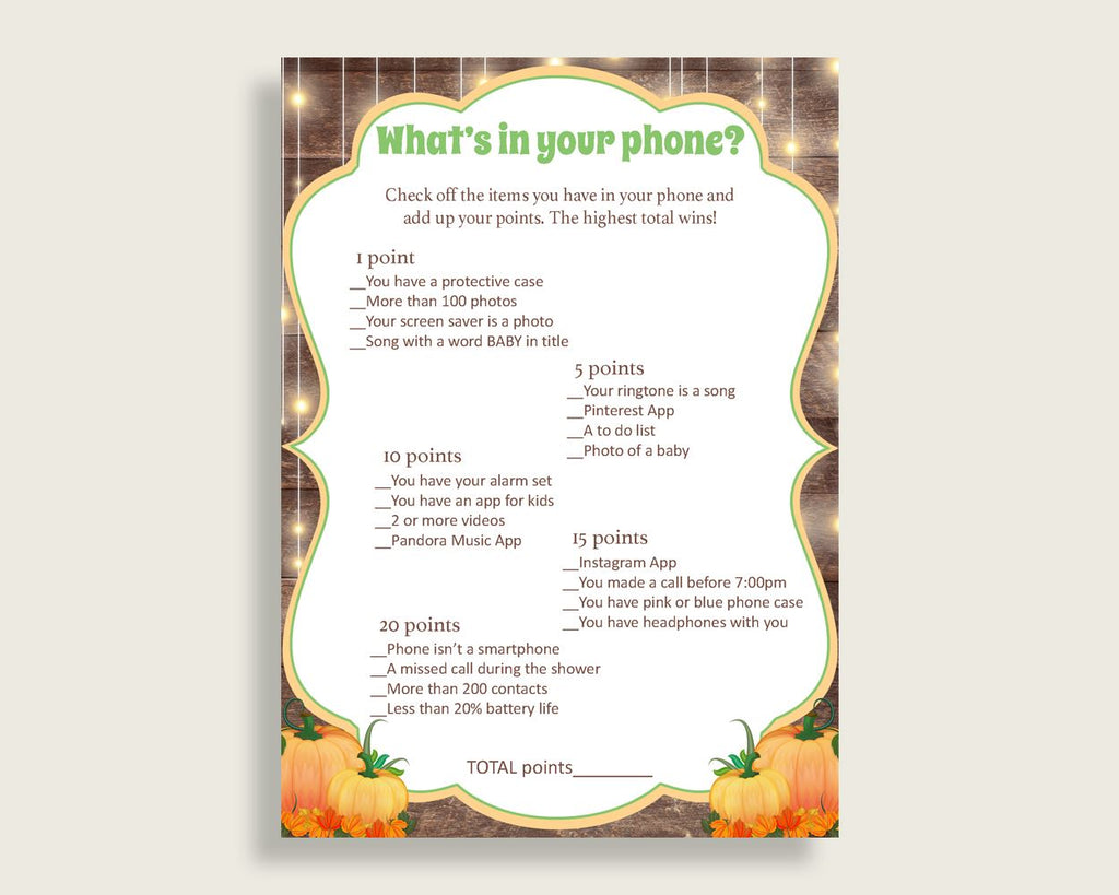 What's In Your Phone Baby Shower What's In Your Phone Autumn Baby Shower What's In Your Phone Baby Shower Autumn What's In Your Phone 0QDR3 - Digital Product