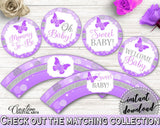 Cupcake Toppers And Wrappers Baby Shower Cupcake Toppers And Wrappers Butterfly Baby Shower Cupcake Toppers And Wrappers Baby Shower 7AANK - Digital Product