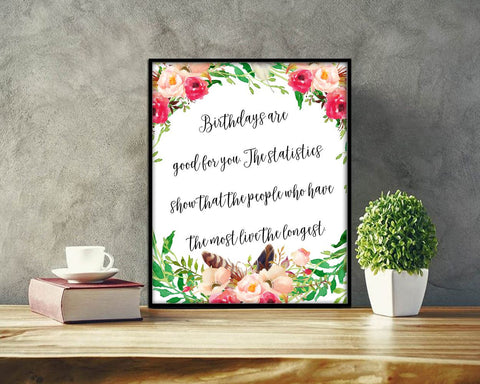 Wall Decor Birthday Printable Birthday Prints Birthday Sign Birthday Funny Art Birthday Funny Print Birthday Printable Art Birthday green - Digital Download