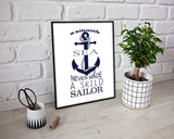 Wall Art Sailor Sea Digital Print Sailor Sea Poster Art Sailor Sea Wall Art Print Sailor Sea Quote Art Sailor Sea Quote Print Sailor Sea sea - Digital Download