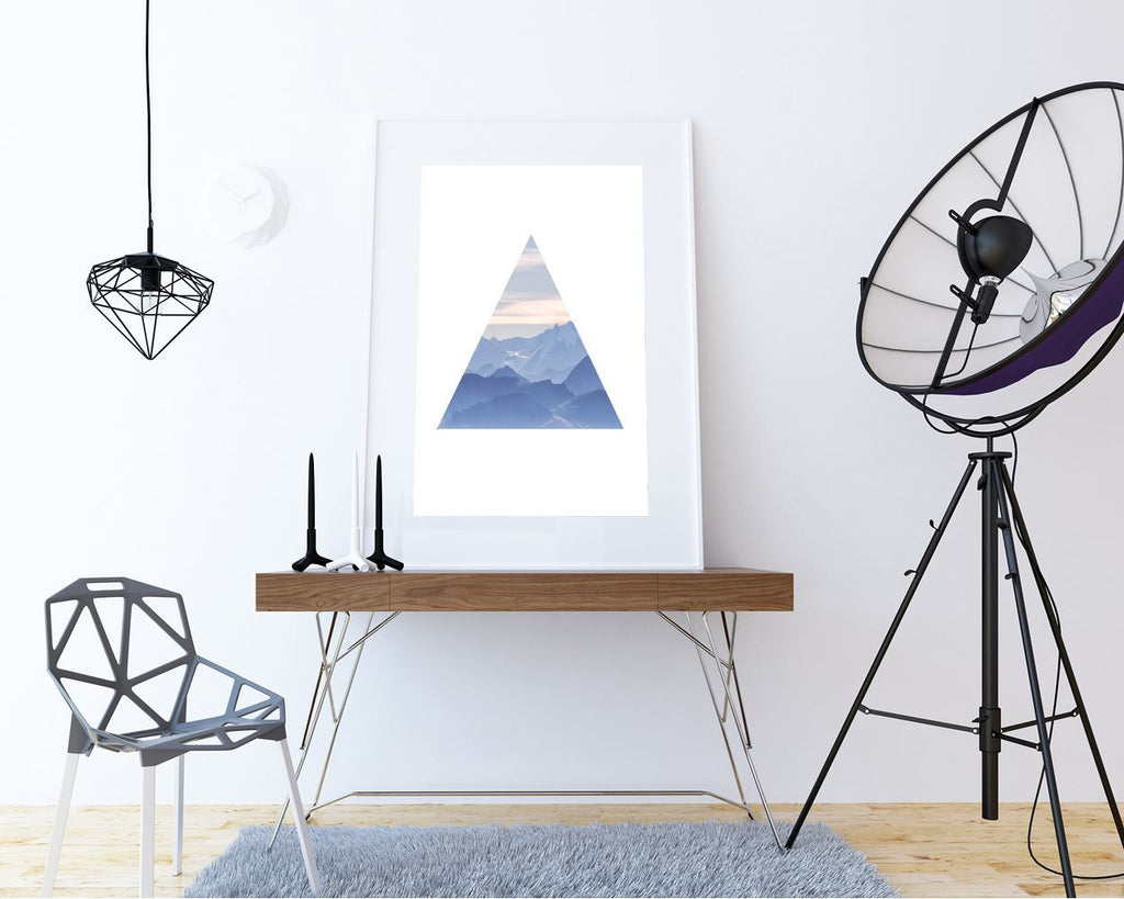 Wall Decor Mountain Printable Triangle Prints Mountain Sign Triangle Living Room Art Triangle Living Room Print Mountain Printable Art - Digital Download
