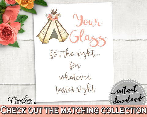 Your Glass For The Night Bridal Shower Your Glass For The Night Tribal Bridal Shower Your Glass For The Night Bridal Shower Tribal 9ENSG - Digital Product