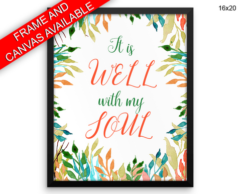 Soul Verse Print, Beautiful Wall Art with Frame and Canvas options available  Decor
