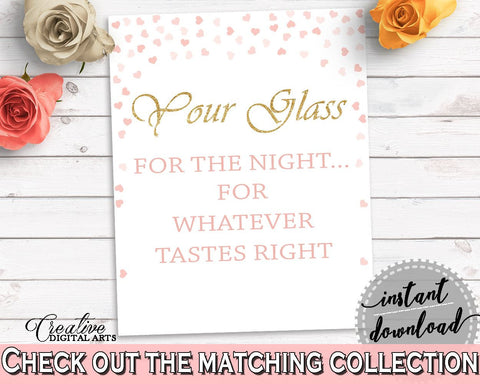 Your Glass For The Night Bridal Shower Your Glass For The Night Pink And Gold Bridal Shower Your Glass For The Night Bridal Shower XZCNH - Digital Product
