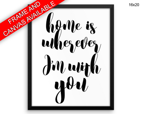 Home Print, Beautiful Wall Art with Frame and Canvas options available Typography Decor