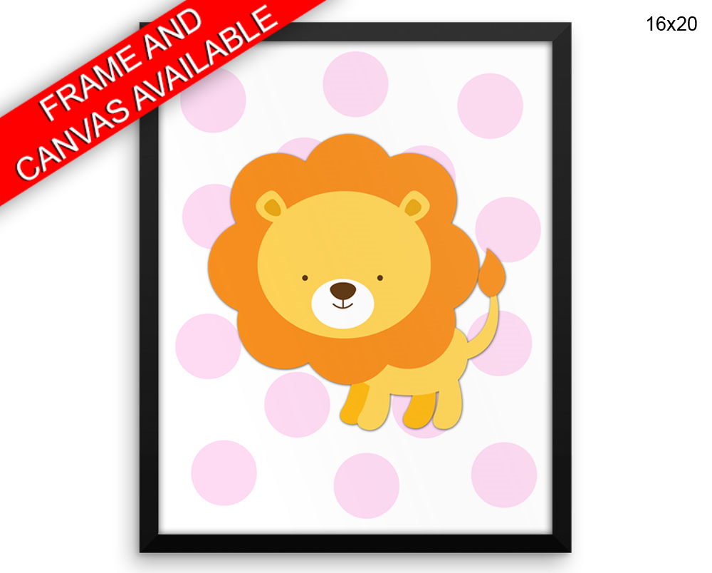 Lion Print, Beautiful Wall Art with Frame and Canvas options ...
