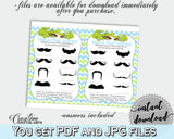 Name That Stache Baby Shower Name That Stache Alligator Baby Shower Name That Stache Blue Green Baby Shower Alligator Name That Stache ap002