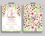 First Birthday Invitation First Birthday Party Invitation First Birthday Party First Invitation Girl one invitation girl KAF9O - Digital Product