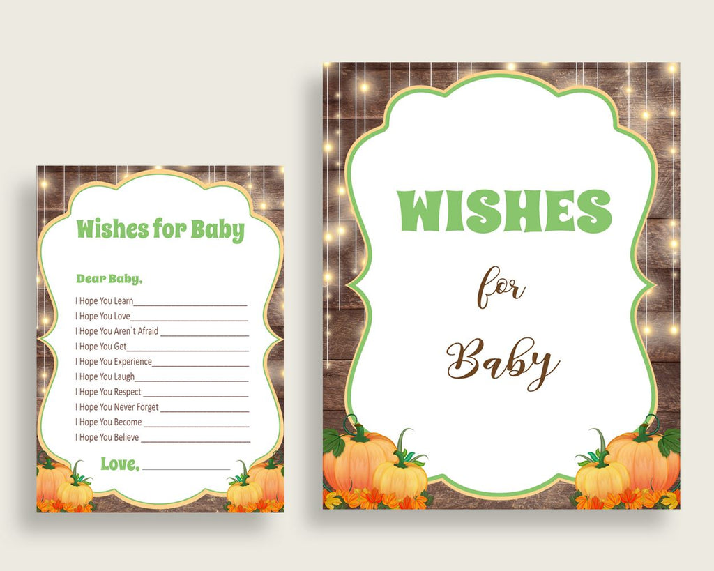 Wishes For Baby Baby Shower Wishes For Baby Autumn Baby Shower Wishes For Baby Baby Shower Autumn Wishes For Baby Brown Orange prints 0QDR3 - Digital Product