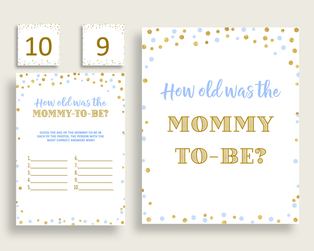 How Old Was Mommy Baby Shower How Old Was Mommy Confetti Baby Shower How Old Was Mommy Blue Gold Baby Shower Confetti How Old Was cb001