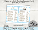 CELEBRITY BABY NAMES boy little lamb baby shower game blue theme sheep printable, digital files jpg pdf, instant download - fa001