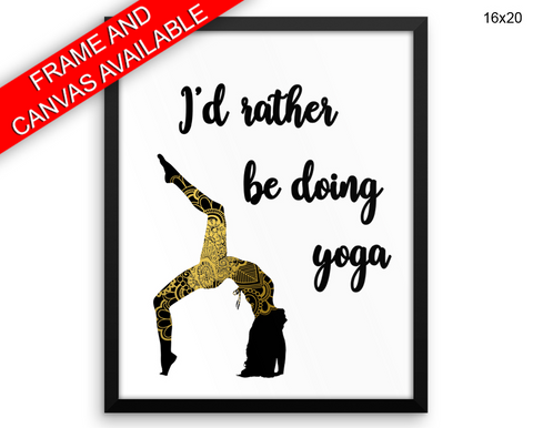 Yoga Pose Print, Beautiful Wall Art with Frame and Canvas options available  Decor