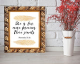 Wall Decor Proverbs Printable Precious Prints Proverbs Sign Precious Bible Art Precious Bible Print Proverbs Printable Art Proverbs - Digital Download