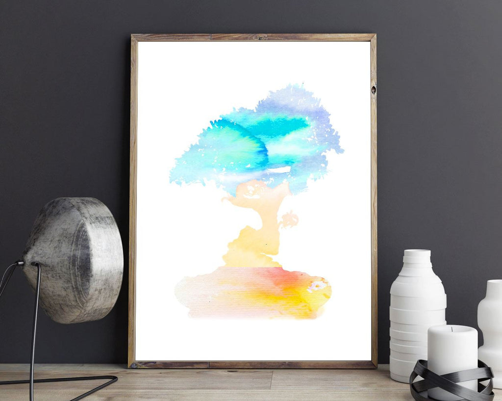 Wall Art Watercolor Digital Print Watercolor Poster Art Watercolor Wall Art Print Watercolor Home Art Watercolor Home Print Watercolor Wall - Digital Download