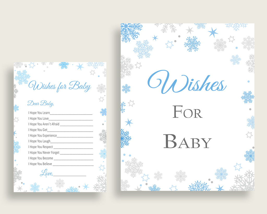 Wishes For Baby Baby Shower Wishes For Baby Snowflake Baby Shower Wishes For Baby Blue Gray Baby Shower Snowflake Wishes For Baby NL77H