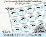 Blue Gray Hershey Kisses, Baby Shower Hershey Kisses, Mustache Baby Shower Hershey Kisses, Baby Shower Mustache Hershey Kisses instant 9P2QW - Digital Product