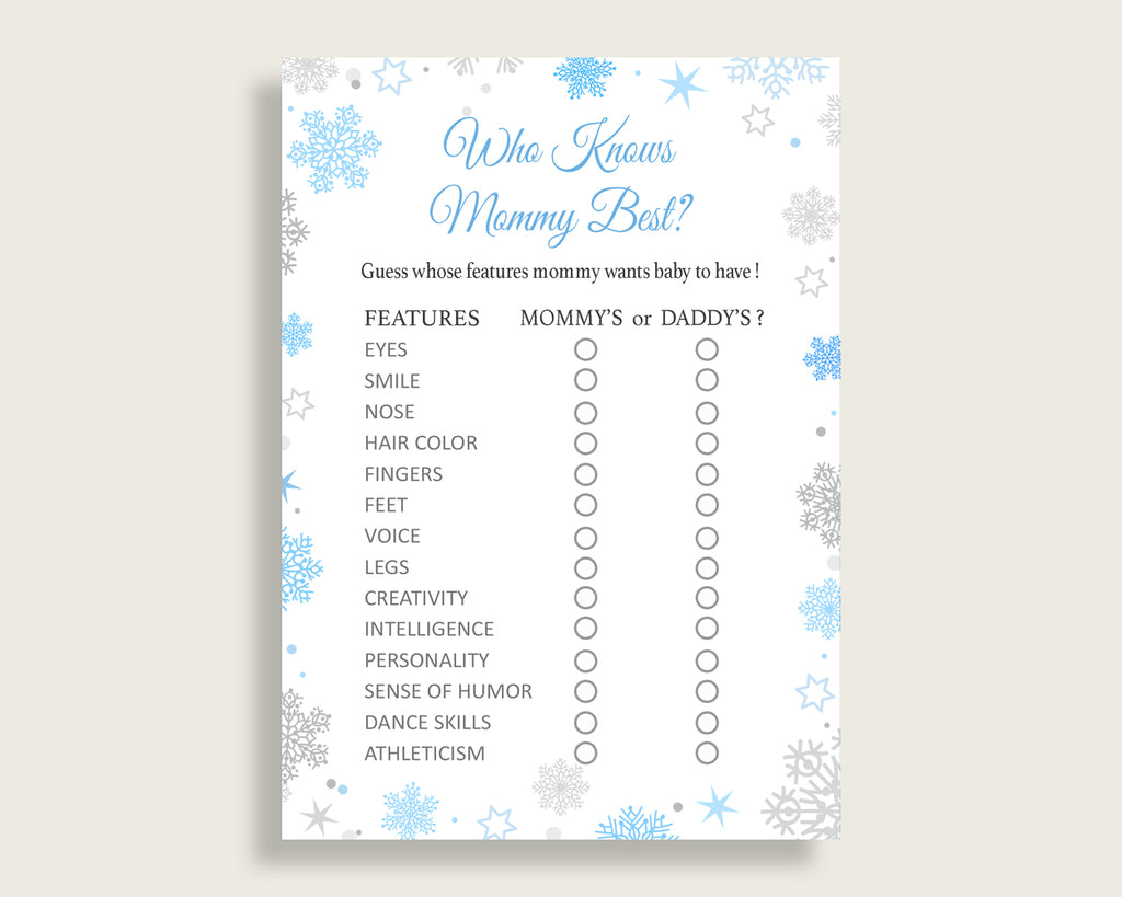 Who Knows Mommy Best Baby Shower Who Knows Mommy Best Snowflake Baby Shower Who Knows Mommy Best Blue Gray Baby Shower Snowflake Who NL77H