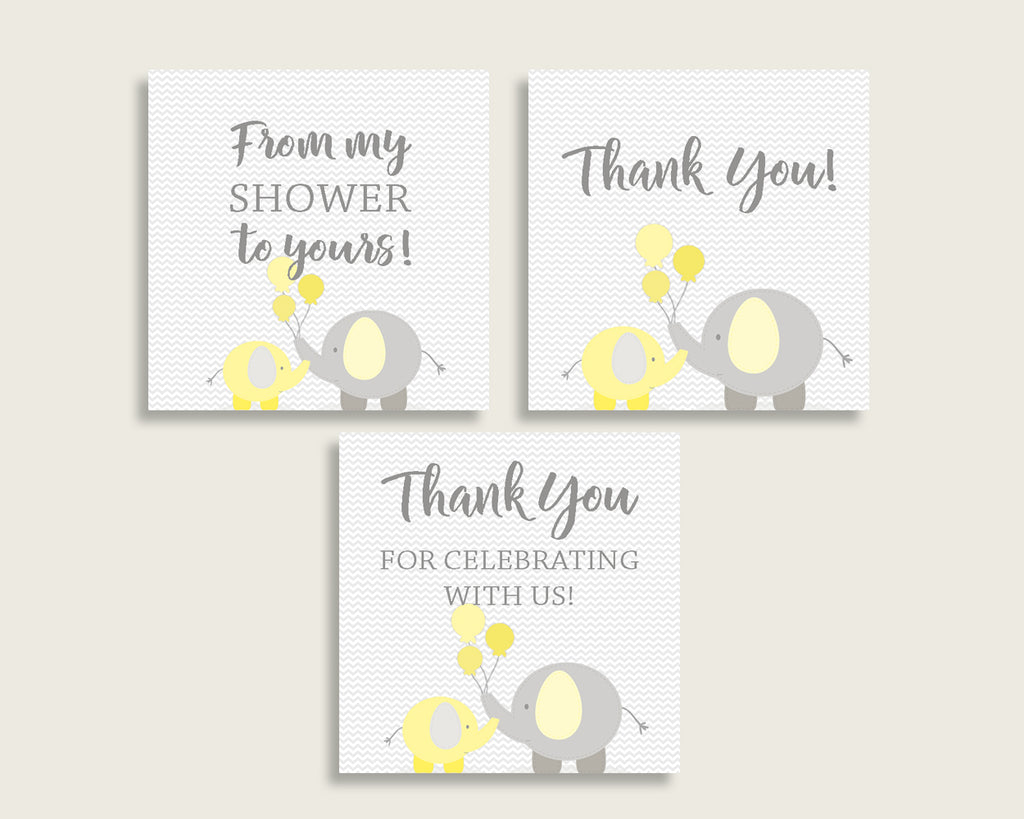 Thank You Tags Baby Shower Thank You Tags Yellow Baby Shower Thank You Tags Baby Shower Elephant Thank You Tags Yellow Gray pdf jpg W6ZPZ