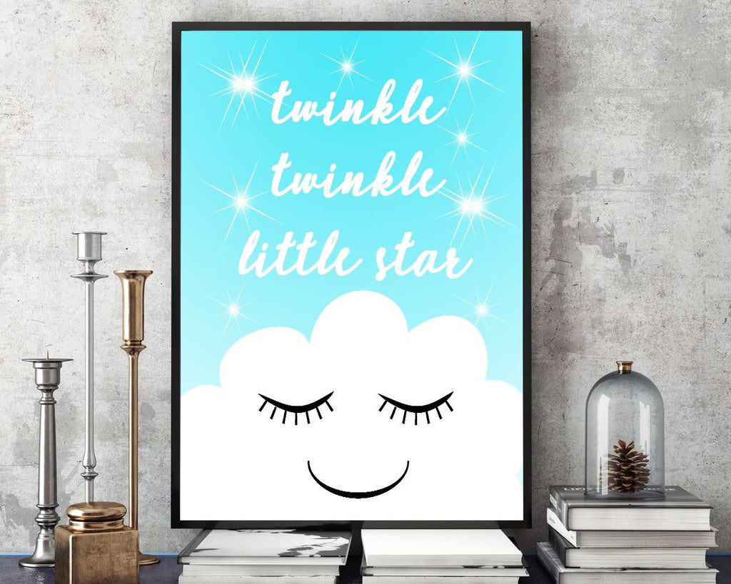 Wall Art Twinkle Twinkle Little Star Digital Print Twinkle Twinkle Little Star Poster Art Twinkle Twinkle Little Star Wall Art Print Twinkle - Digital Download
