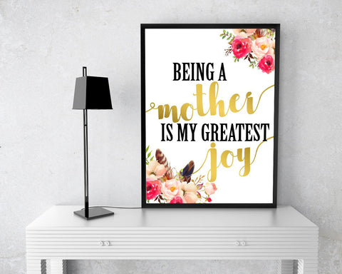 Wall Decor Mom Printable Mom Prints Mom Sign Mom Mother Art Mom Mother Print Mom Printable Art Mom mother day joy quote mother quote - Digital Download