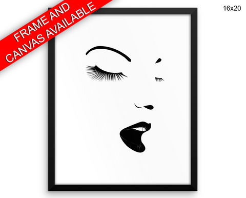 Makeup Print, Beautiful Wall Art with Frame and Canvas options available Beauty Decor