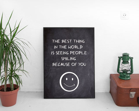 Wall Art Smiling Digital Print Smiling Poster Art Smiling Wall Art Print Smiling Inspirational Art Smiling Inspirational Print Smiling Wall - Digital Download