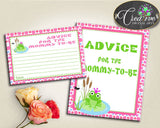 Baby Shower Frog Shower Pink Theme Recommendations Mom Suggestion Parents ADVICE FOR MOMMY And Parents To Be, Party Ideas - bsf01 - Digital Product