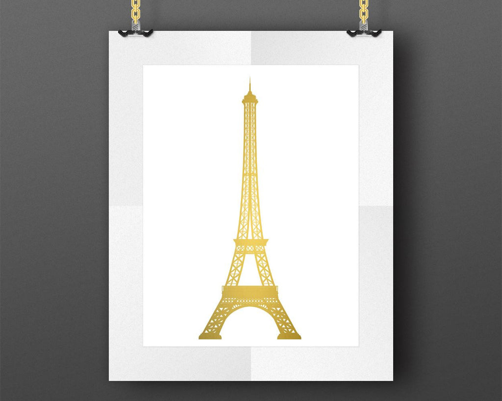 Wall Art Eiffel Tower Digital Print Eiffel Tower Poster Art Eiffel Tower Wall Art Print Eiffel Tower  Wall Decor Eiffel Tower gold art decor - Digital Download