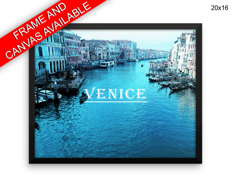 Italy Venice Print, Beautiful Wall Art with Frame and Canvas options available Photography Decor