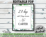Days Until Becomes Bridal Shower Days Until Becomes Botanic Watercolor Bridal Shower Days Until Becomes Bridal Shower Botanic 1LIZN - Digital Product