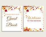 Table Signs Bridal Shower Table Signs Fall Bridal Shower Table Signs Bridal Shower Autumn Table Signs Brown Yellow party theme YCZ2S