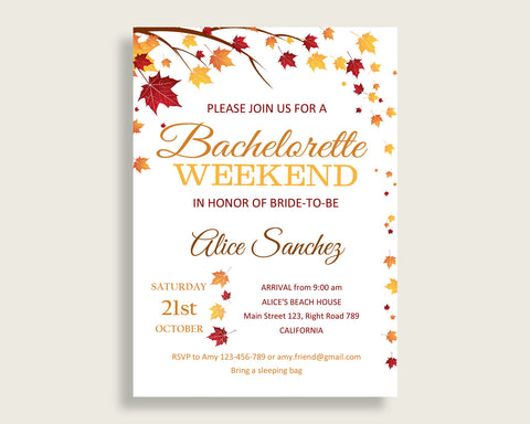 Bachelorette Weekend Invitation Bridal Shower Bachelorette Weekend Invitation Fall Bridal Shower Bachelorette Weekend Invitation YCZ2S
