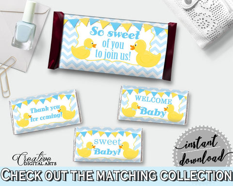Baby Shower Cute Yellow Duckie Decoration Wrappers Chocolate Decor CANDY BAR DECORATIONS, Party Organizing, Party Stuff - rd002 - Digital Product