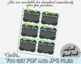 Baby shower BRING A BOOK insert cards printable for baby shower with green alligator and blue color theme, instant download - ap002