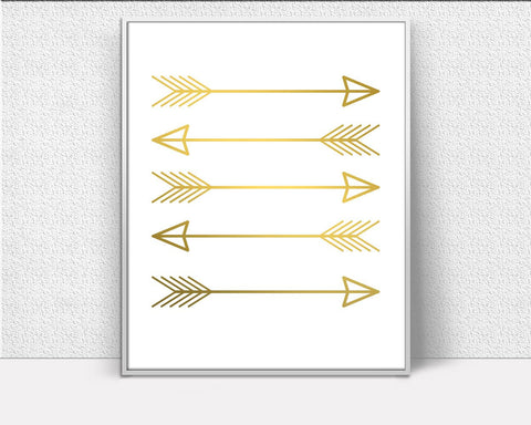Arrow Decor, Gold Wall Art, Gold Arrow Art, Gold Arrow Sign, Inspirational Wall Art, Art Printables, Creative Home Decor - Digital Download
