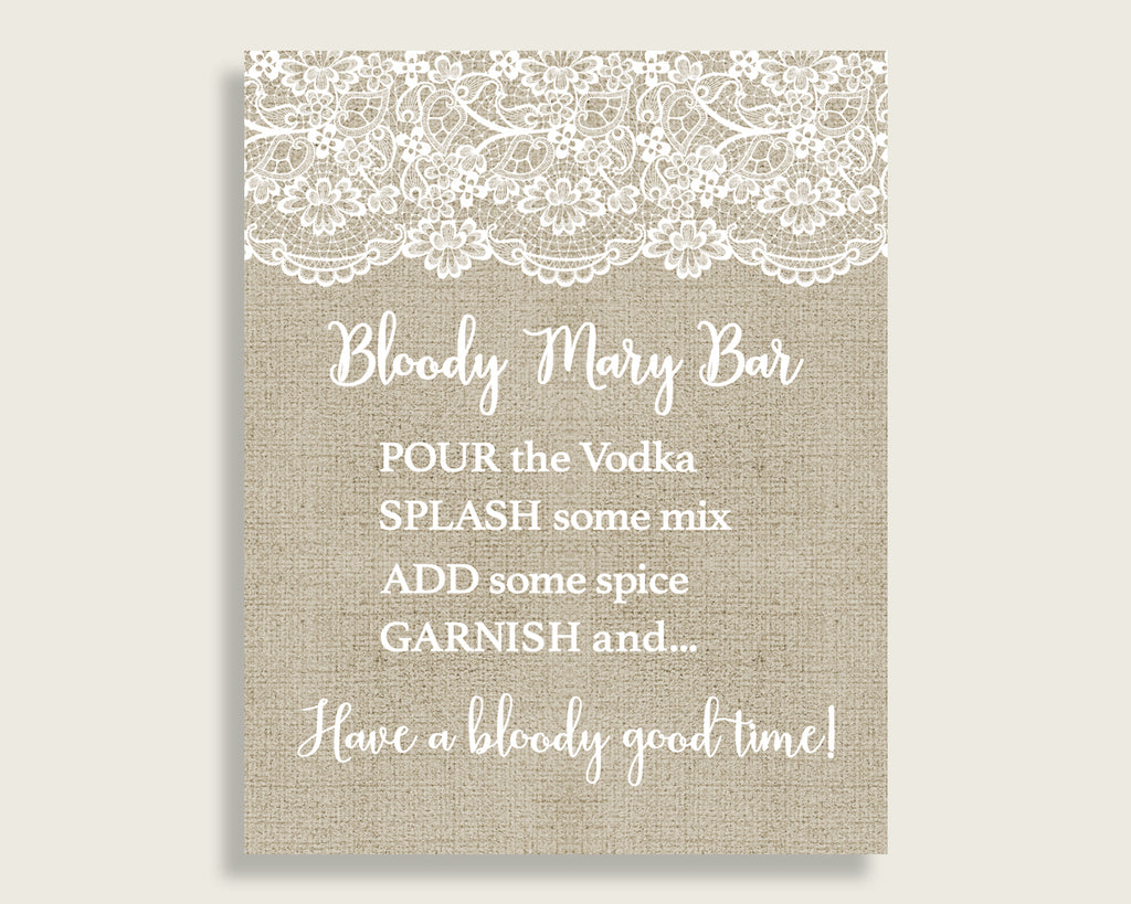 Bloody Mary Bridal Shower Bloody Mary Burlap And Lace Bridal Shower Bloody Mary Bridal Shower Burlap And Lace Bloody Mary Brown White NR0BX